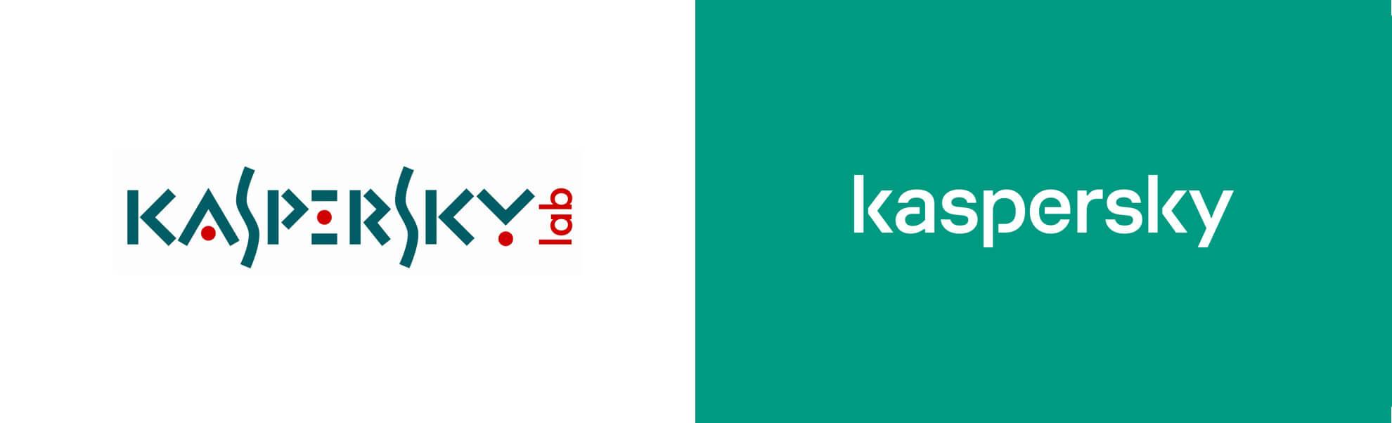 Kaspersky nowe istare logo