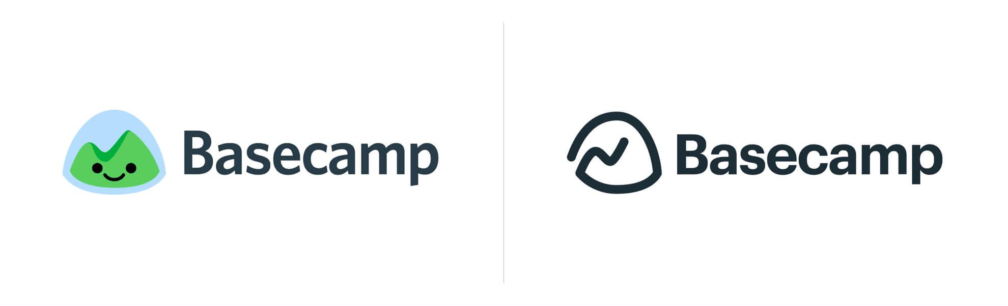 Stare inowe logo usługi Basecamp