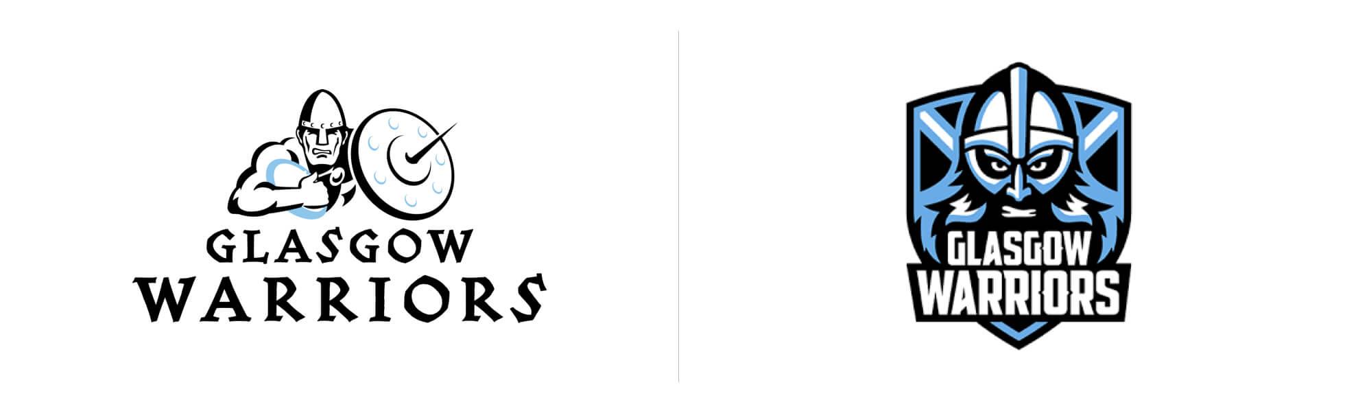 nowe istare logo glasgow warriors