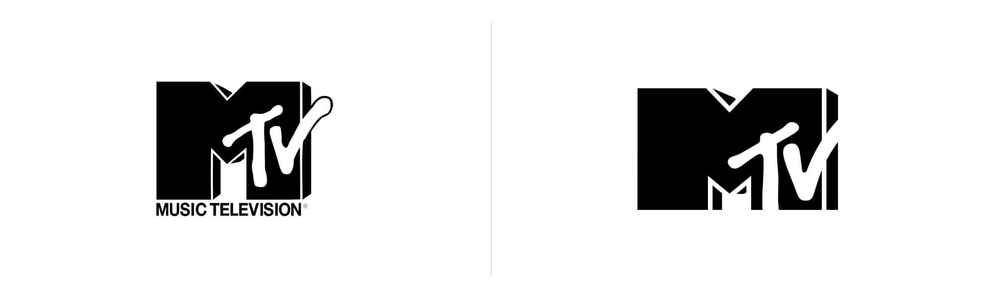 Stare inowe logo MTV
