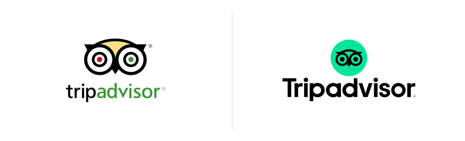 Nowe logo Tripadvisora