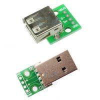 USB male-female на плате, купить запчасти для 3д принтера