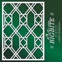Decor Pattern Stencil: Window Glass Trellis