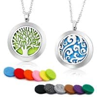 Aromatherapy Essential Oil Diffuser Necklace Two Patterns Pendant Locket Jewelry
