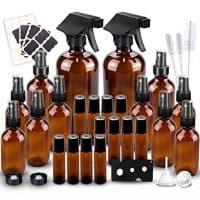 Amber Glass Spray Bottles Kit