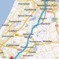 de route weergave in Google Navigatie