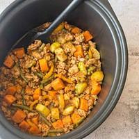 turkey in a black crock pot