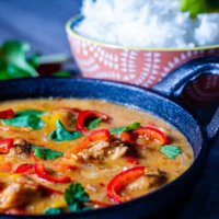 Thai red curry with jasmine rice