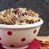 White Chocolate Monster Munch - Irresistible Halloween Chex Mix coated in white chocolate!