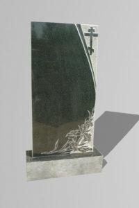 Памятник «Крест/лилии внизу»