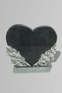 Памятник «Сердце/букеты роз»