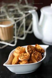 Air Fryer Bhakarwadi (Tea Time Dry Snack Recipe)