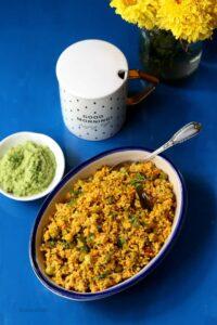 Foxtail Millet Upma / Thinai Vegetable Upma Recipe