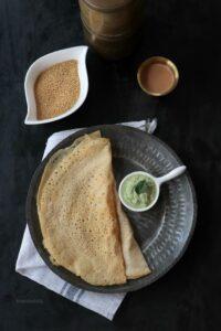 Thinai Dosai / Foxtail Millet Dosa / Navane Dosa
