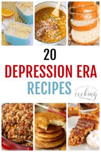 20 Depression Era Recipes