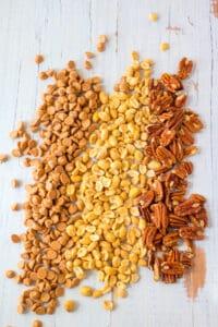 Slow Cooker Butterscotch Nut Clusters Process