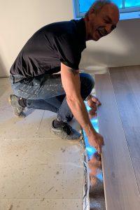 Zwevend leggen van houten vloer