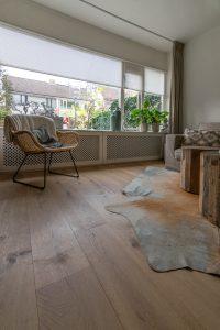 Rustieke eikenhouten vloer
