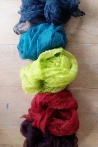 Farbenfrische -Organza Schals
