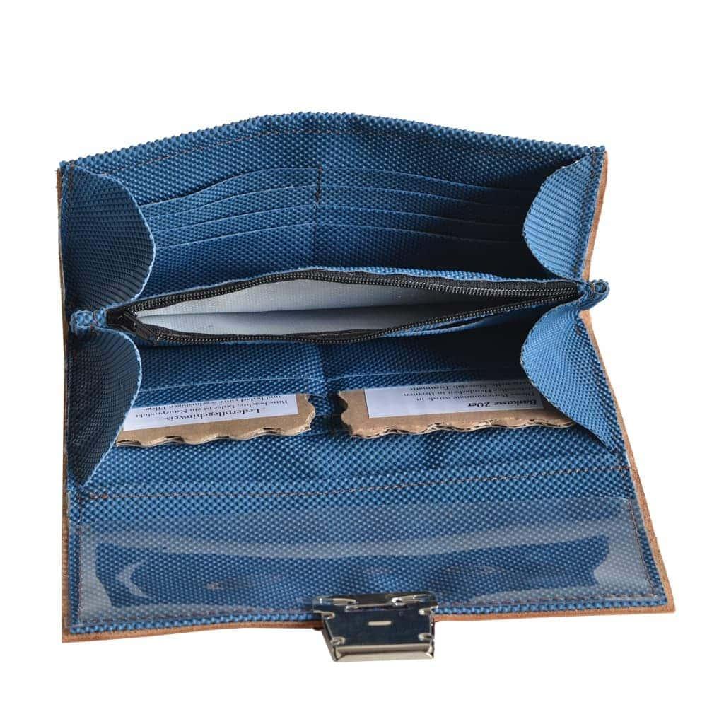Portemonnaie recycelt aus Turn- und Sportgeräten Innenansicht