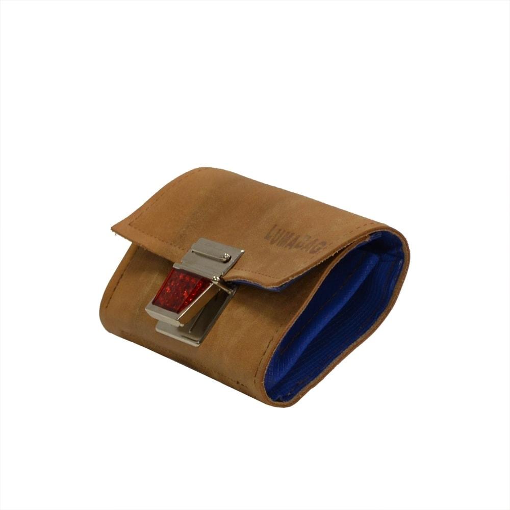 Portemonnaie recycelt aus Turn- und Sportgeräten von der Seite