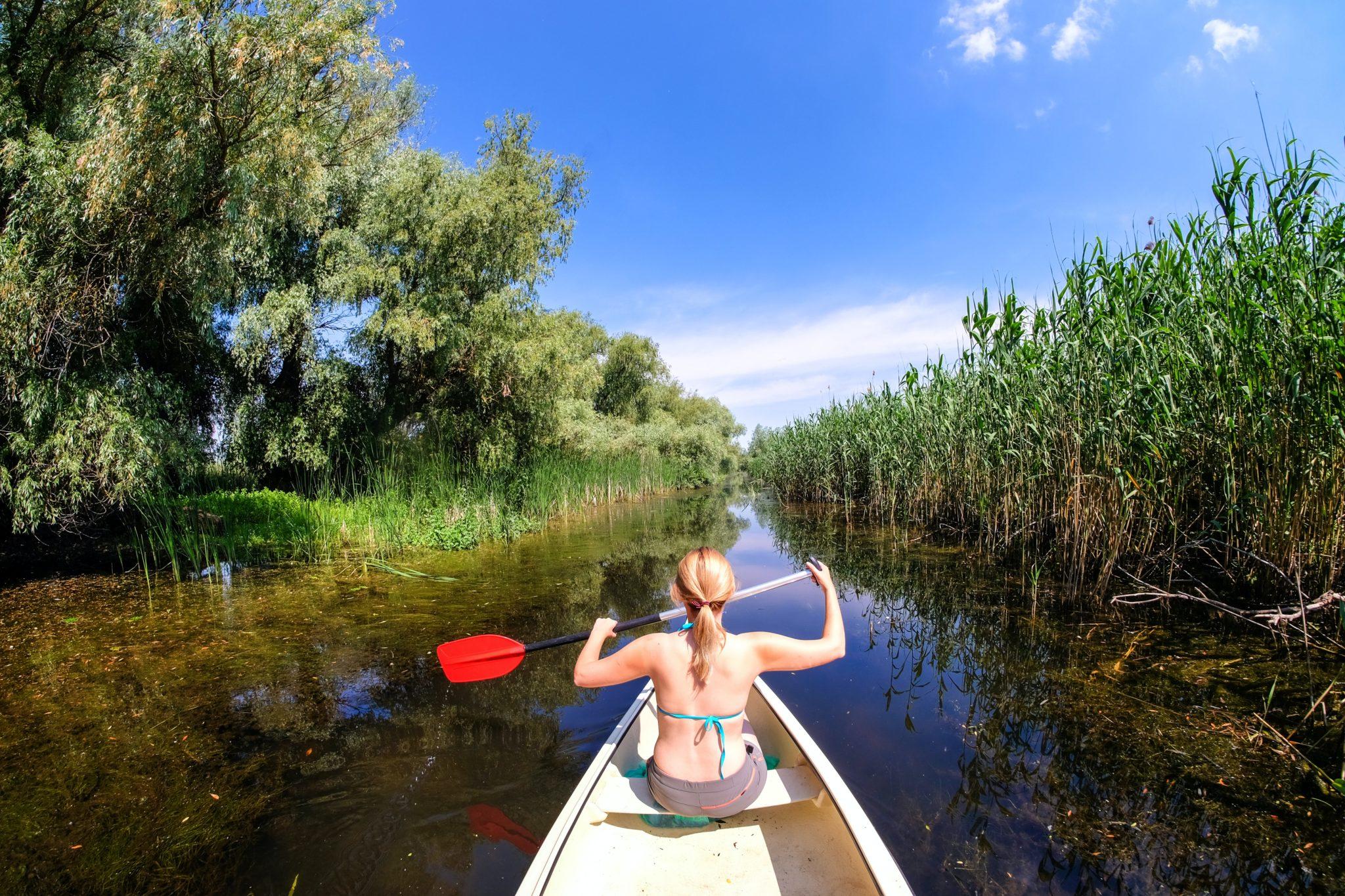 Kanu fahren im Donau Delta