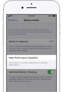 ios13 iphone7 settings battery health normal peak performance افزایش سلامت باتری ایفون