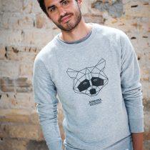 AESTHETIKA Sweatshirt THE_RACCOON grey/black mood