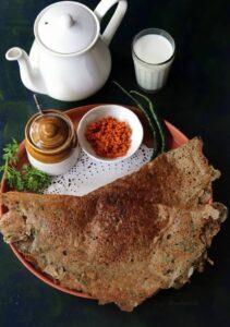 Instant Kambu Dosai (Bajra or Pearl Millet Flour Instant Dosa Recipe)