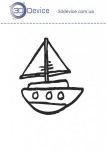Кораблик трафареты для 3D ручки