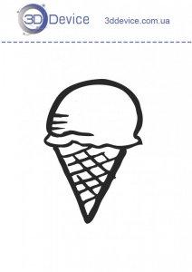 Мороженое трафареты для 3D ручки