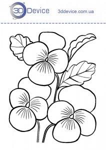 Трафарет цветочки для 3Д ручки