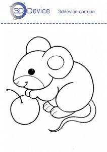 Трафарет мышка