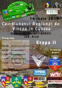 campionatul regional de viteza in coasta afis