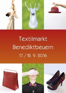 Plakat Textilmarkt Benediktbeuern 2016