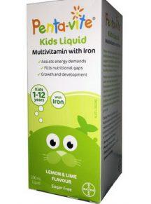 Vitamin tổng hợp Penta-vite cho trẻ từ 1-12 tuổi (Lọ 200ml)