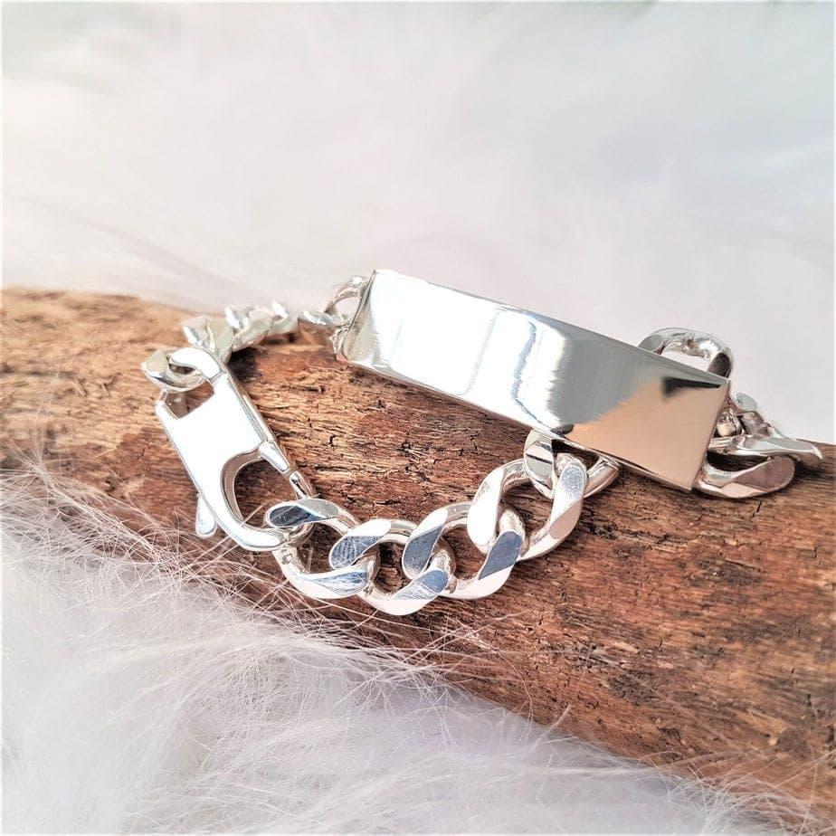 shiny silver bracelet