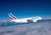 Samolot Air France w powietrzu