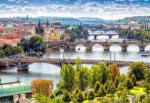 Praga widok na mosty