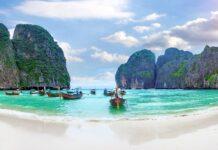 Maya bay Niebiańska plaża w Tajlandii