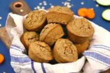 Healthy zucchini carrot muffins, zucchini muffins, zucchini bread muffins, healthy breakfast muffins, blender muffins, gluten free muffins, healthy breakfast muffin recipe, carrot muffins, banana zucchini muffins, meal prep breakfast ideas