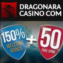 Dragonara Online Casnino free spins