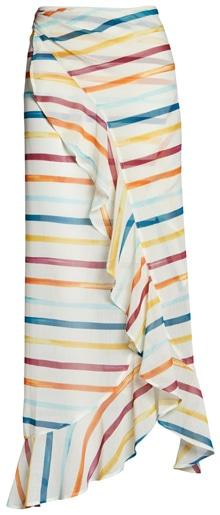 Chelsea28 ruffle chiffon sarong skirt | 40plusstyle.com