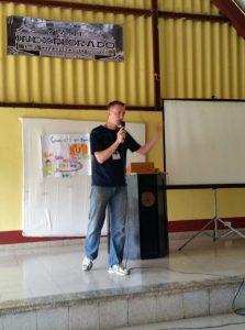 Tim teaching Bible classes