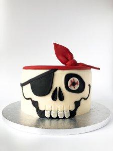 Pirate Skull Cake - Birthday