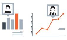 statistieken in de vorm van grafieken software ik steek mijn hand op
