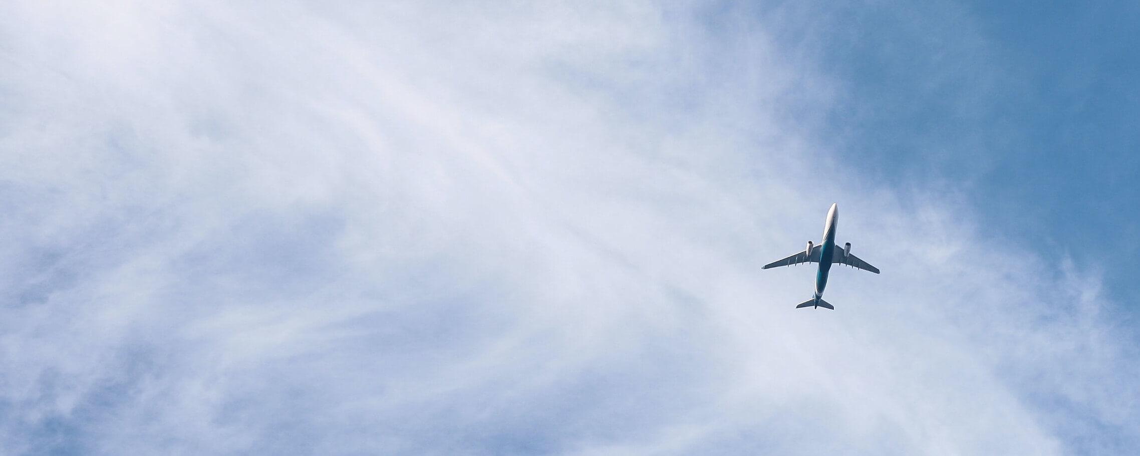 Flugscham - Flugzeug im Himmel