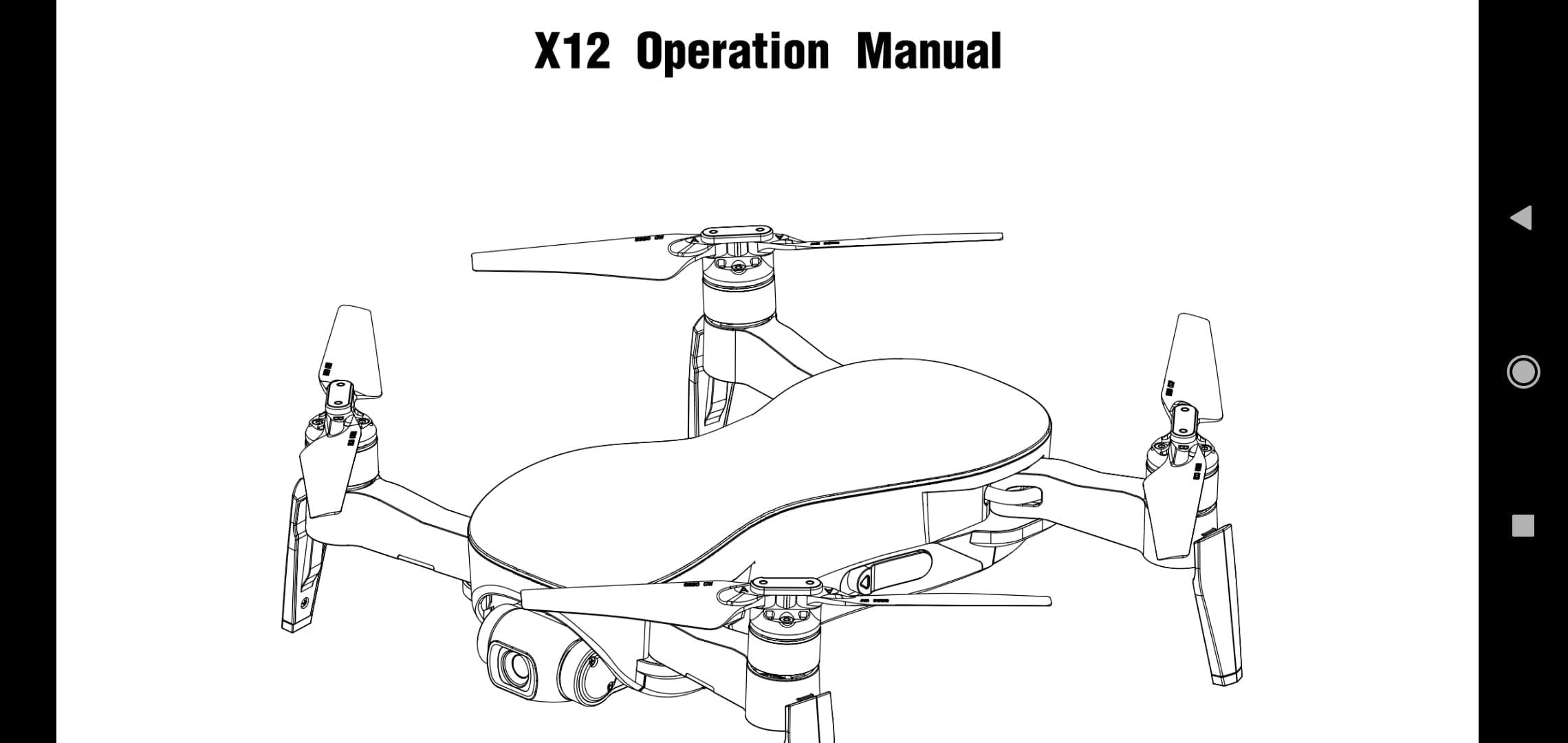 JJRC X12 User Manual download