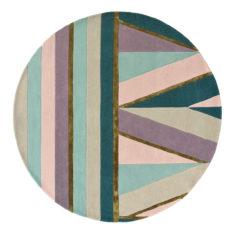 fioletowo turkusowy dywan okragly Sahara Round Pink 56102