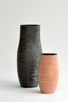 Ruth Stark - Zwei Vasen gedreht und verformt
